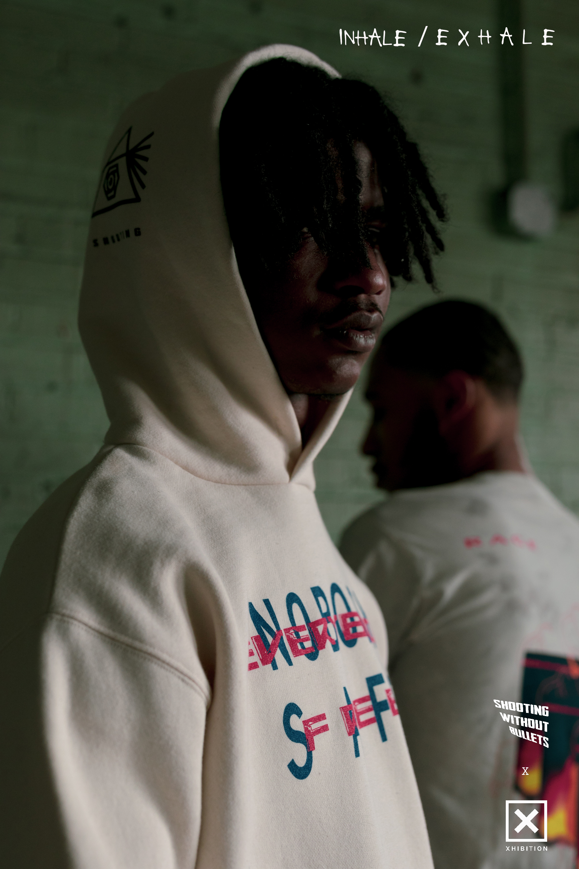 Campaign image from SWOB x Xhibition capsule collection