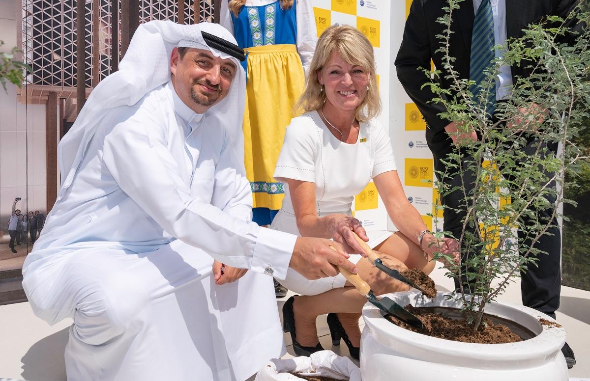 Anna Hallberg i Dubai Expo