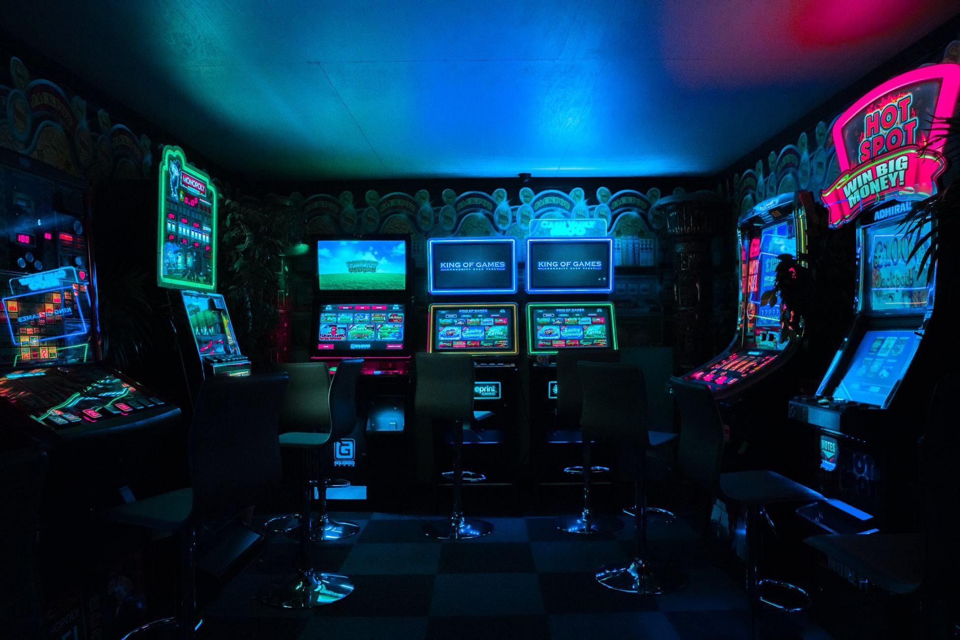 a hall of videogames. An arcade