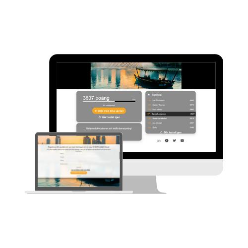 a desktop presenting a leaderboard