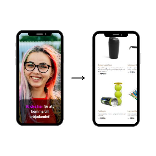 two phones with a picture of a girl on it