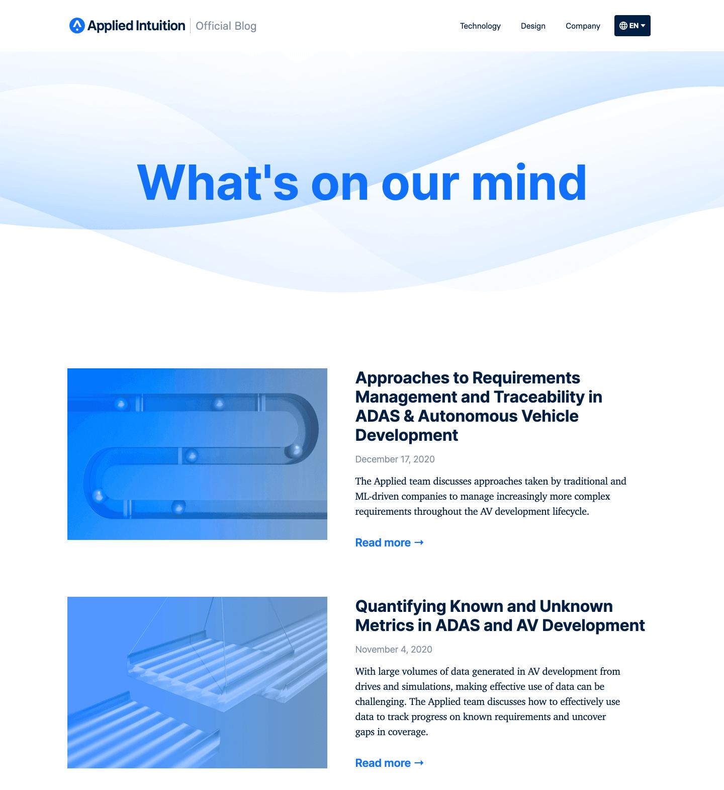 Applied Blog 1