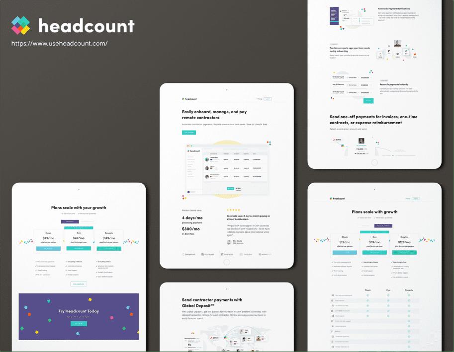 Headcount responsive design