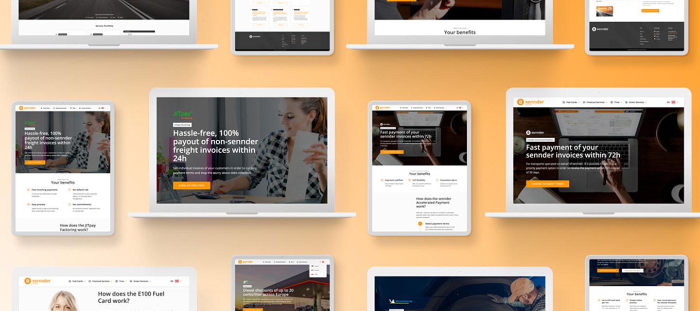 sennder website screens