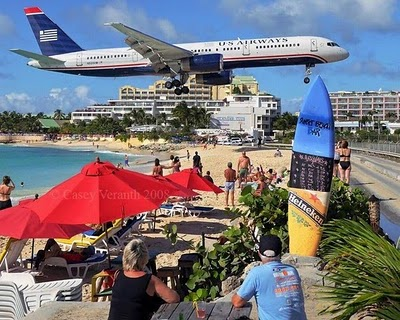 Maho-Beach-Airport-Airplane