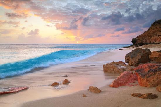 cupecoy-beach-sunset-st-maarten-