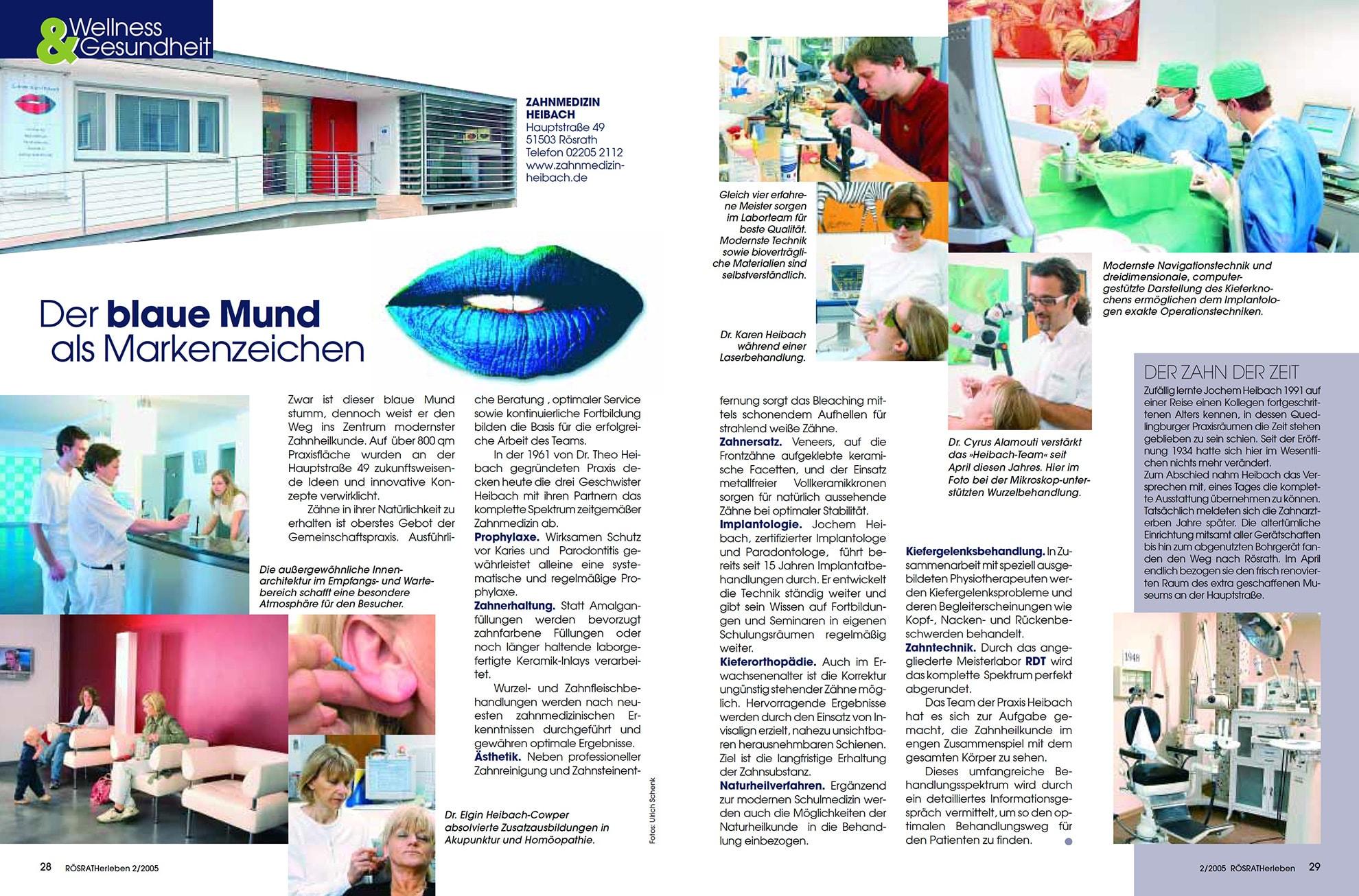 Z-MVZ dental suite - Pressemitteilung: Der blaue Mund als Markenzeichen
