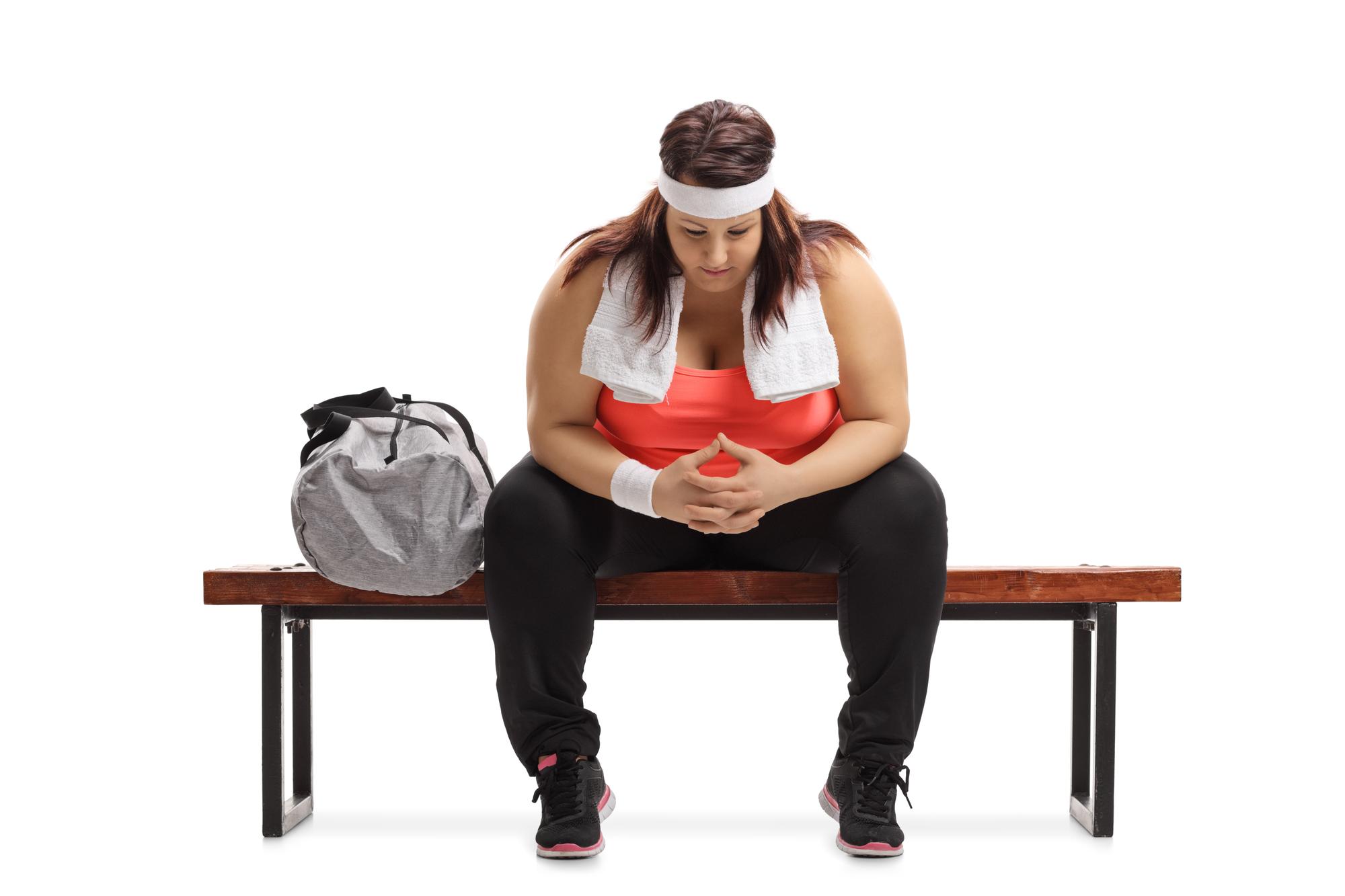 mujer frustrada ejercicio