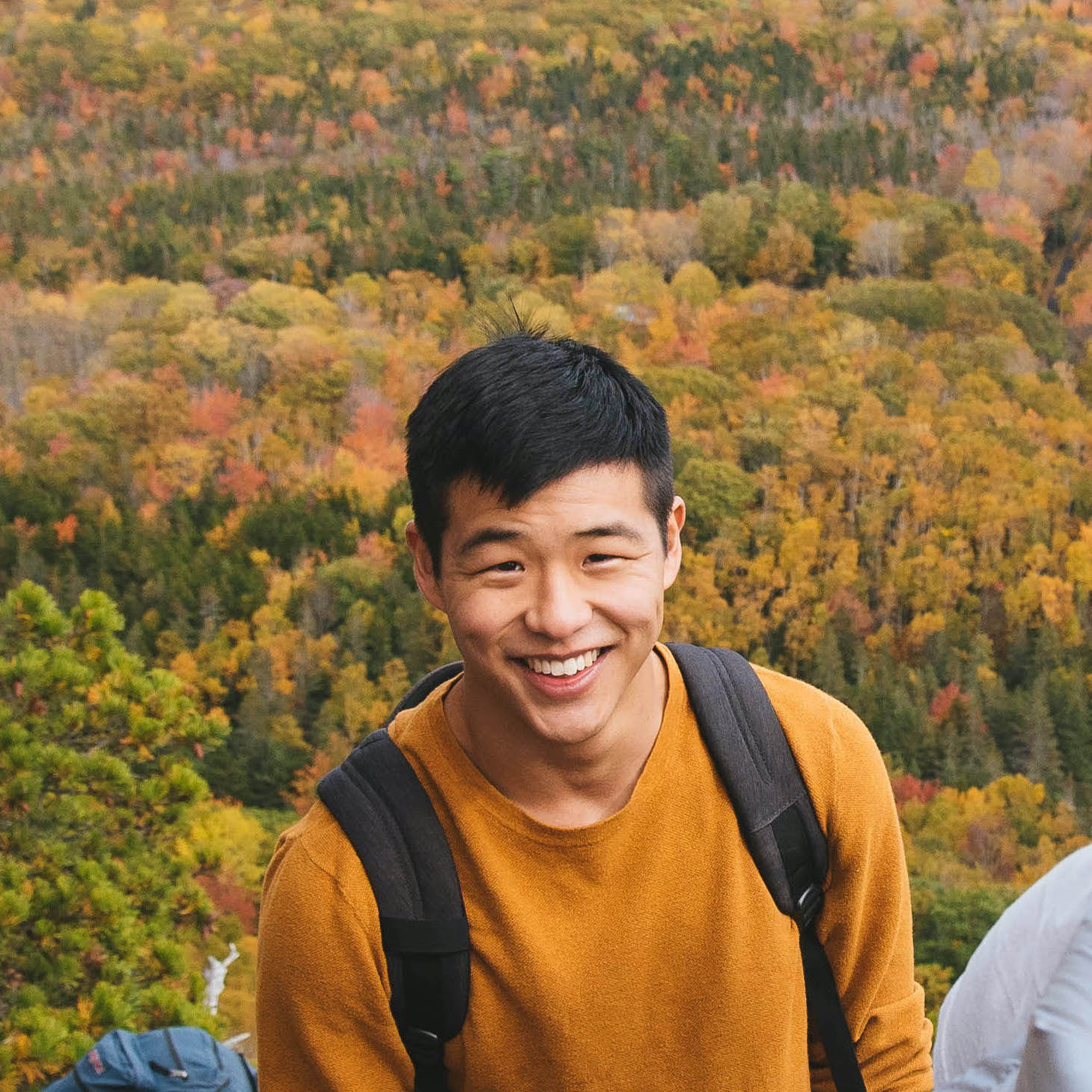 A photo of Miles Kim in Maine.