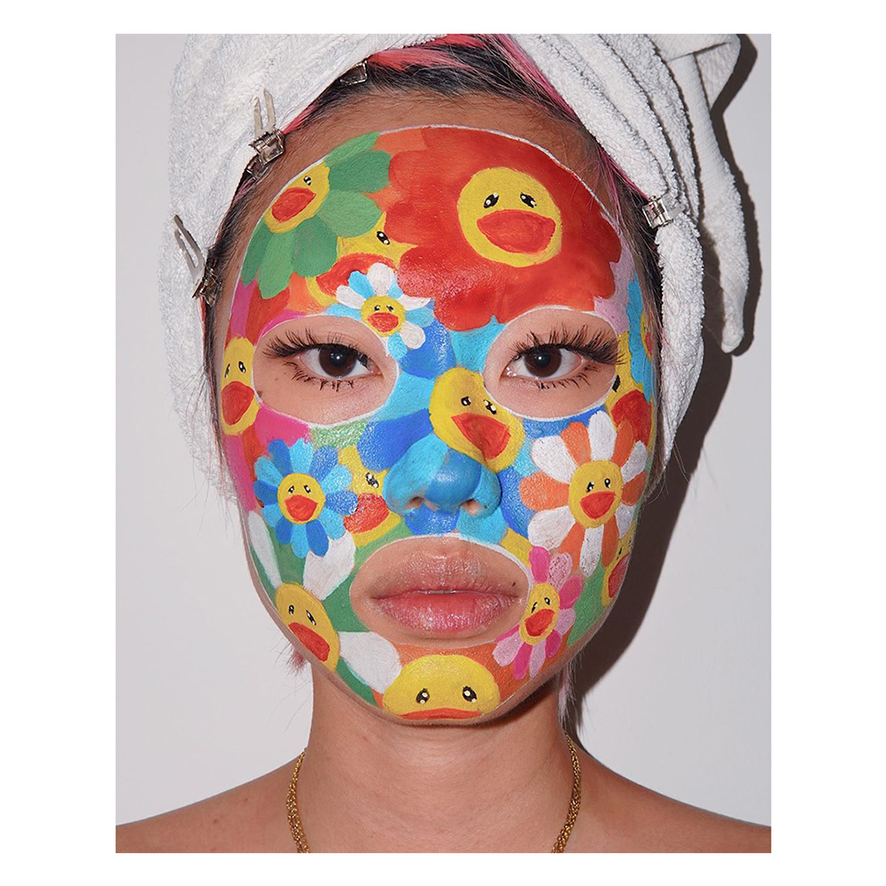 ten questions with kicki yang zhang, the berlin-based artist using her face as a canvas