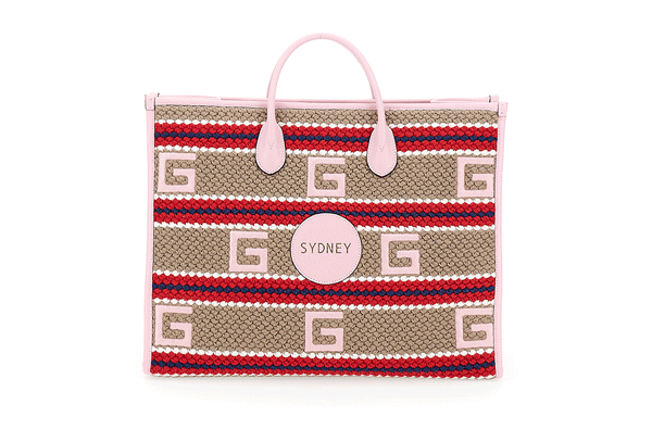 gucci exclusive sydney woven tote