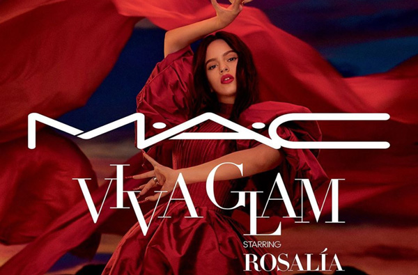 rosalia is the next artist to collaborate with mac cosmetics