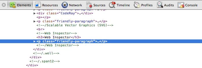 Chrome Web Inspector
