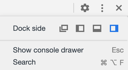 Chrome Show Console Drawer
