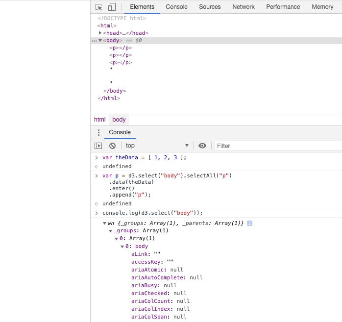 D3.js HTML body Properties