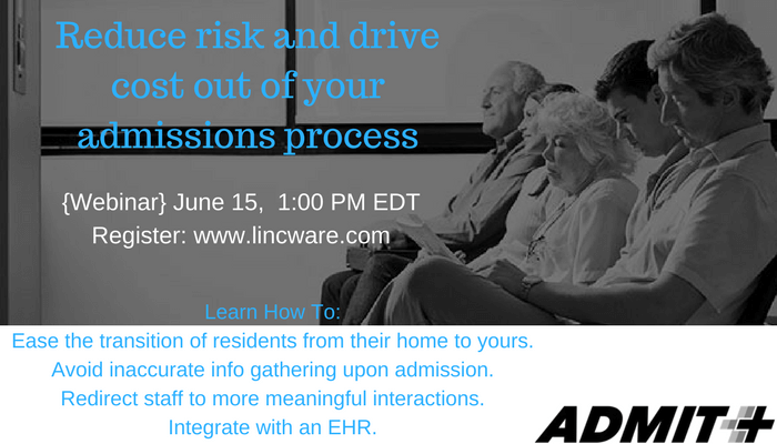 Webinar: Streamline Resident Admissions Using a Paperless Process.