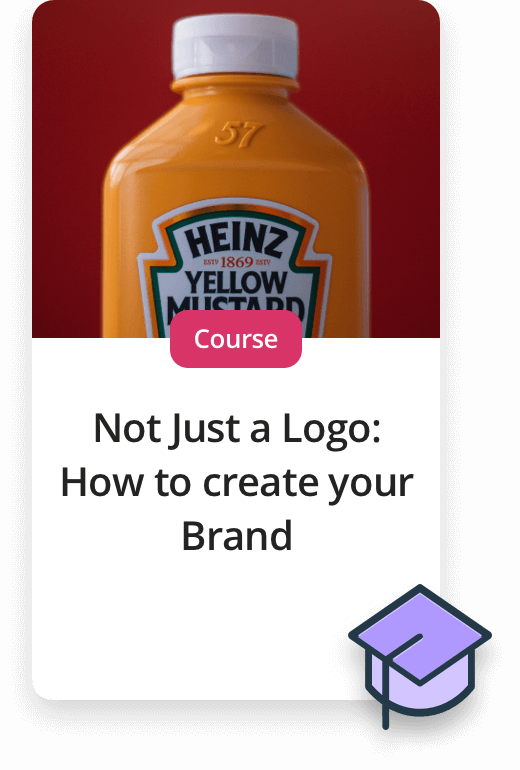 Upcoming Experiences. Course - Not just a logo: How to create your brand