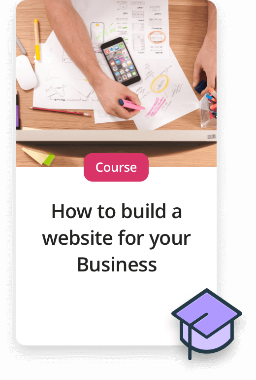 Upcoming Experiences. Course - How to build a website for your business