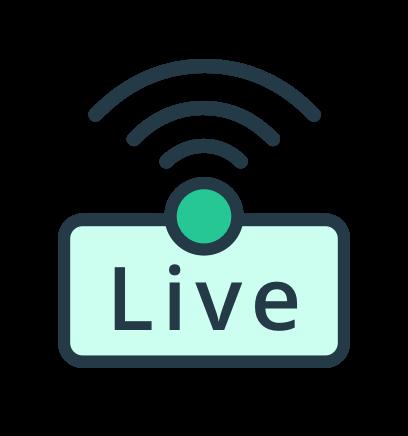 Live broadcasting icon