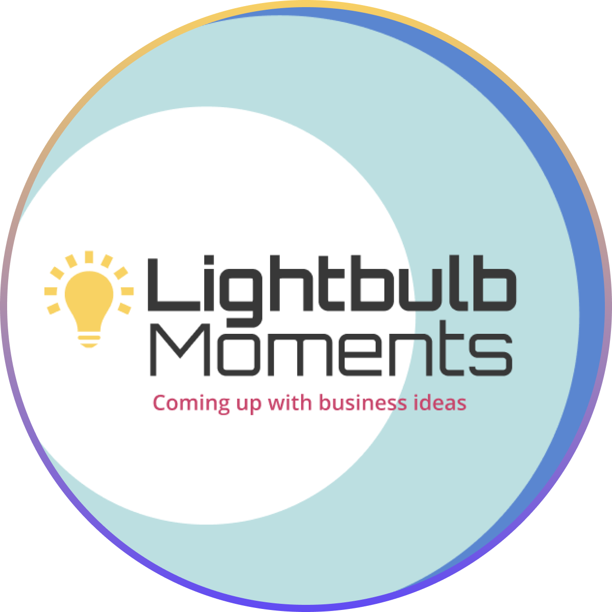 Lightbulb Moments - Coming up with business ideas event graphics