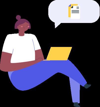 mentor giving feedback illustration
