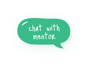 chat with mentor green bubble