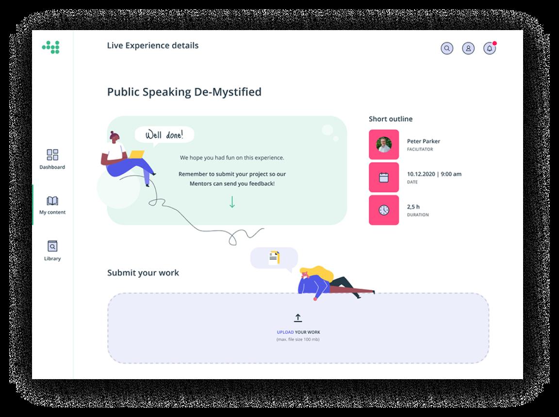 Dashboard - feedback example