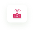 Live Experience icon in magenta