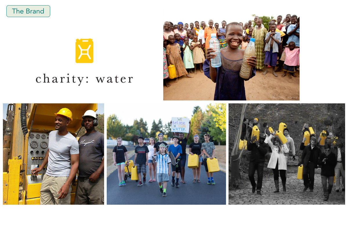 La marque Charity: Water