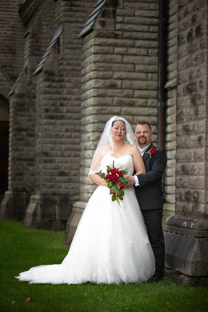 man kan även fotografera utanför kyrkan vid en annan tidpunkt