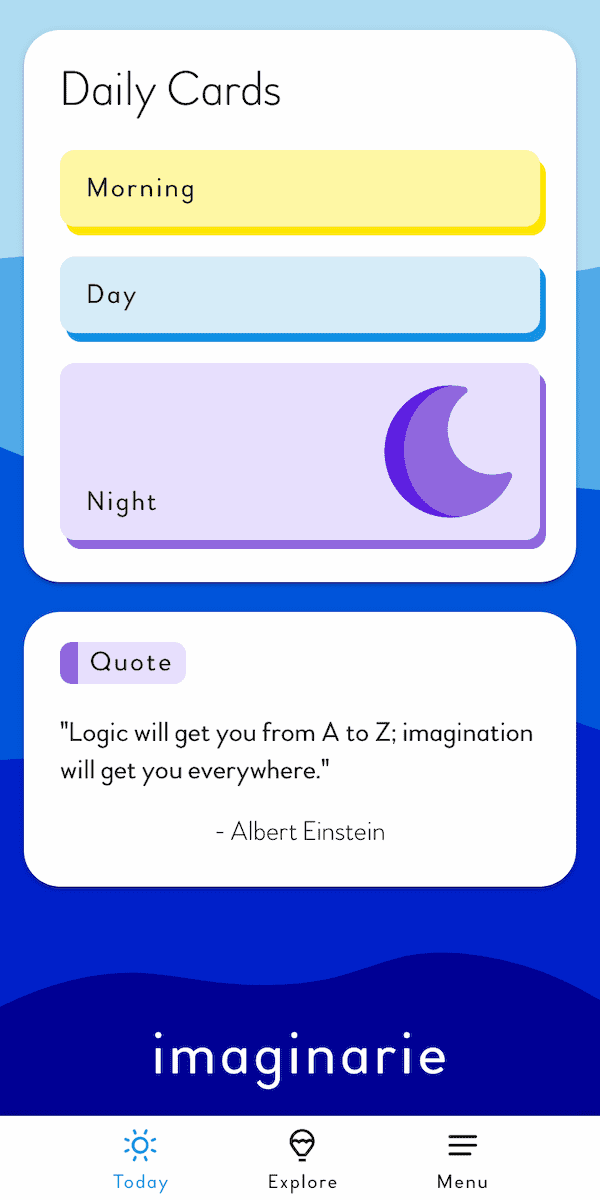 Imaginarie Daily Cards Screenshot