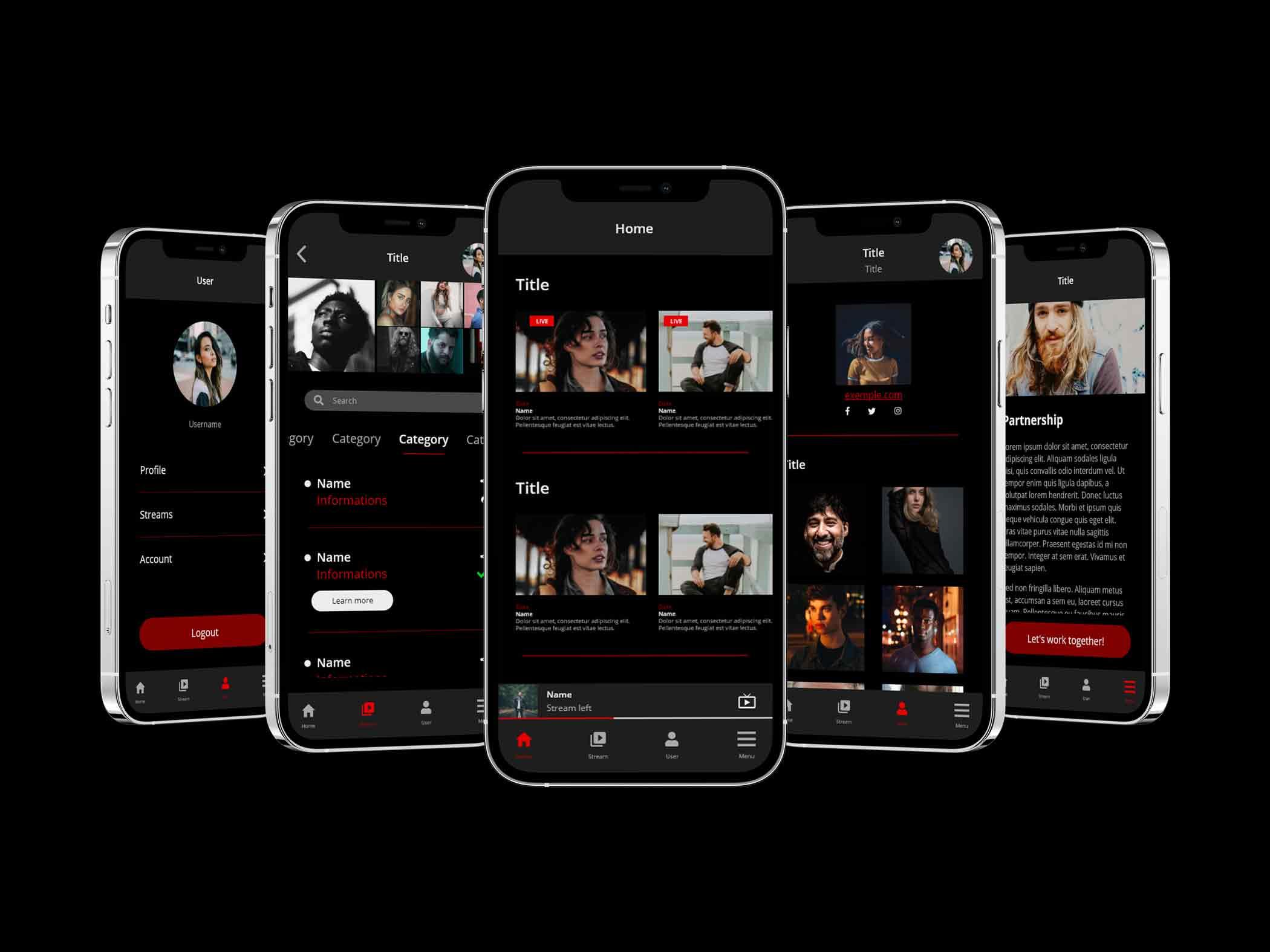 Multiple screen of UI App