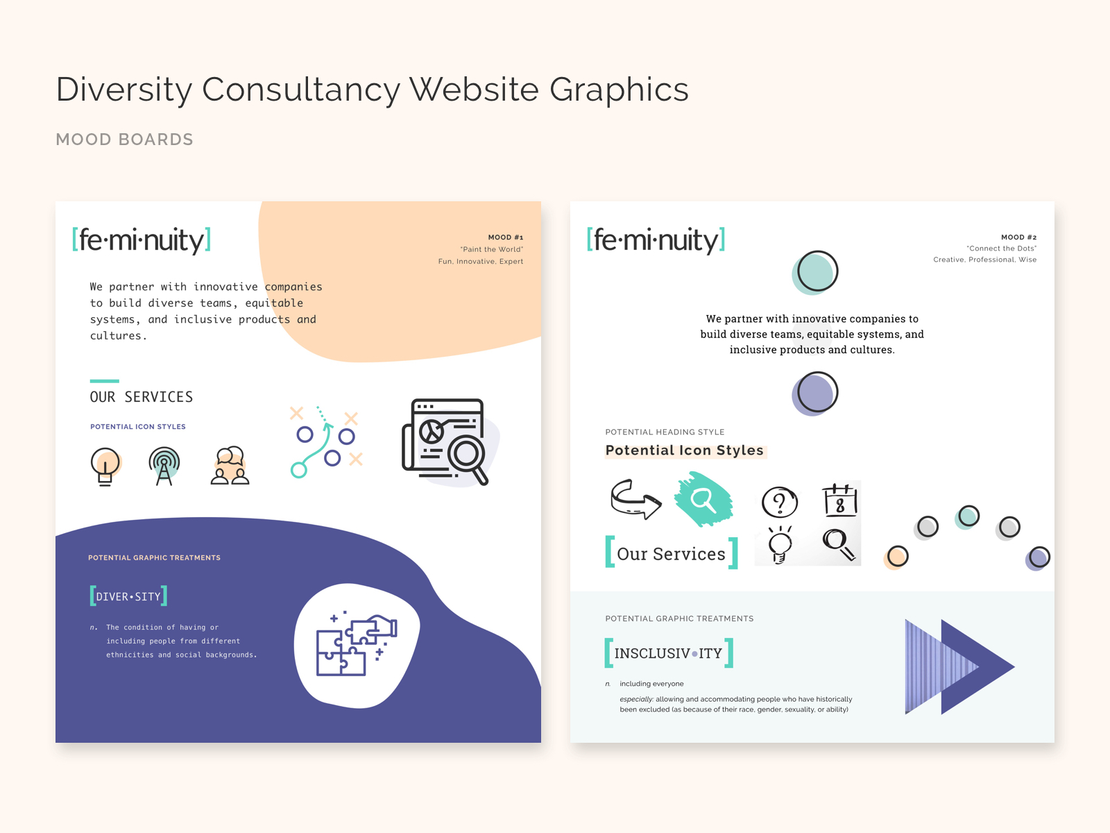 Graphics and branding for a diversity consulting firm