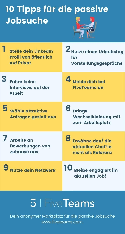 10 Tipps für die passive Jobsuche