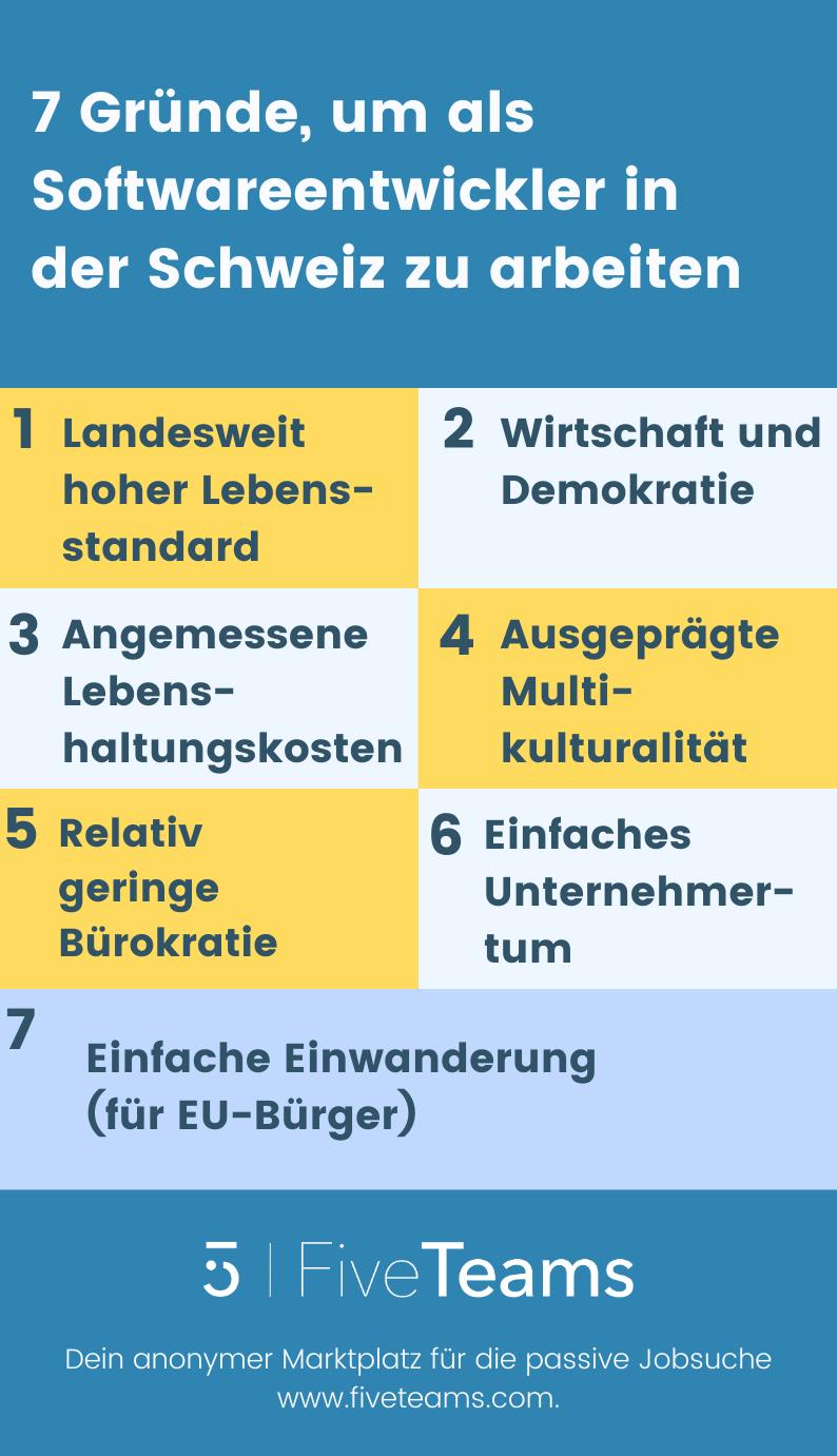 Softwareentwickler-Schweiz-Gründe