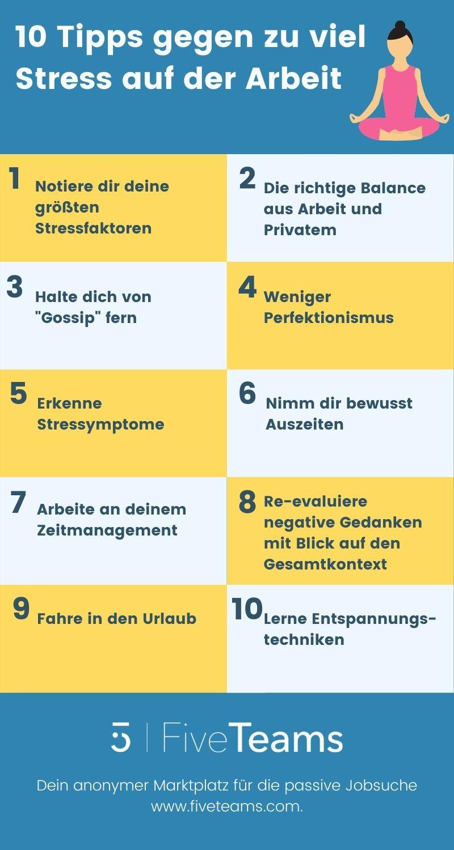 10 Tipps gegen zu viel Sress auf der Arbeit