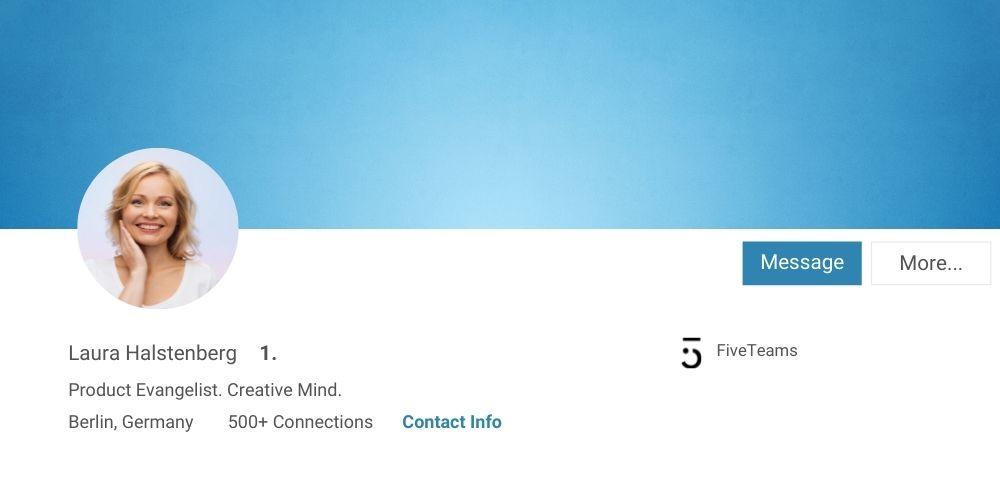 Profilfoto LinkedIn Tipps FiveTeams