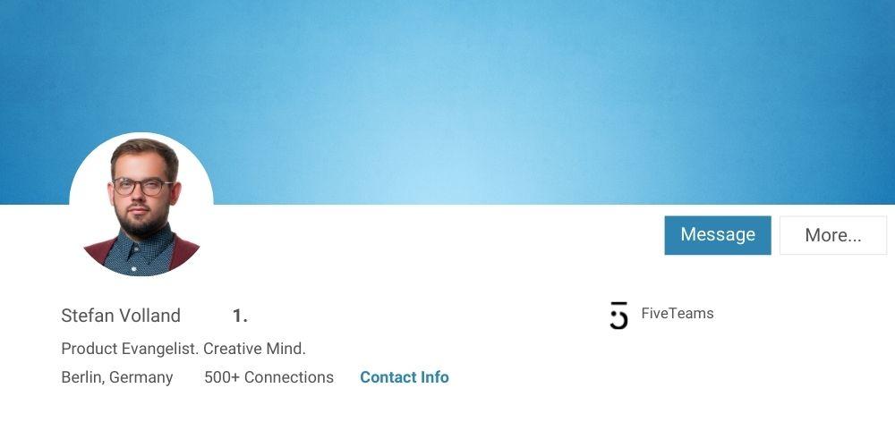 Simpler Hintergrund LinkedIn Profilfoto