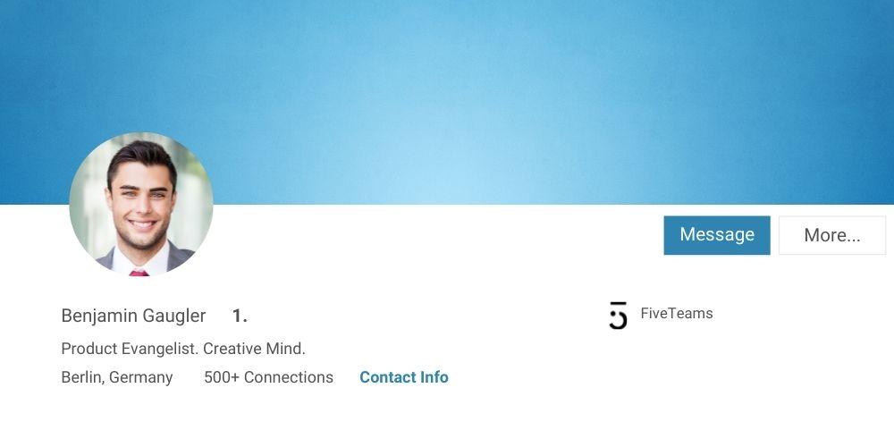 Nicht mehrere Menschen auf einem Profilfoto LinkedIn Tipps FiveTeams