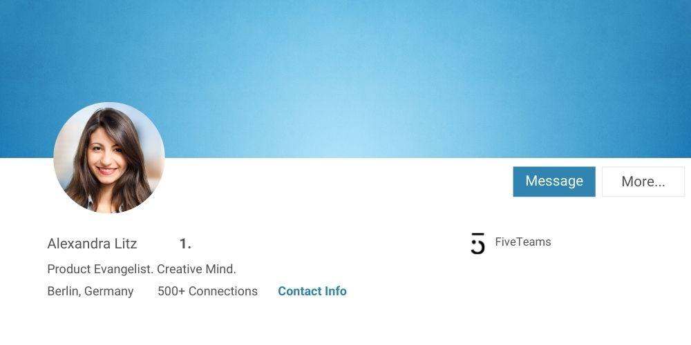 LinkedIn Profilfoto natürliche Filter