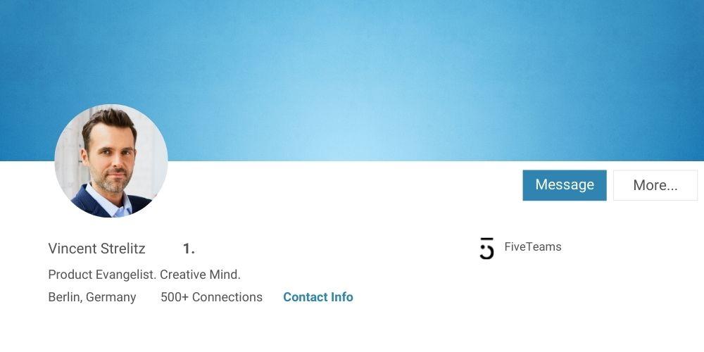 richtige Größe des LinkedIn Profilfotos