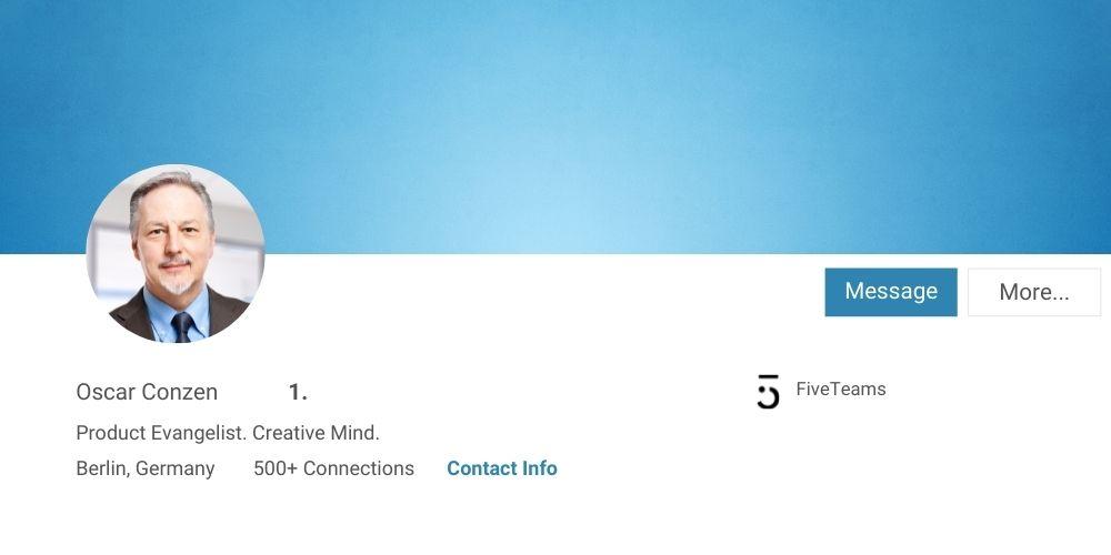 Bild mit hoher Auflösung als Tipp für LinkedIn Profilfoto