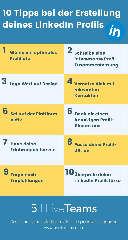 10 Tipps bei der Erstellung eines LinkedIn Profils