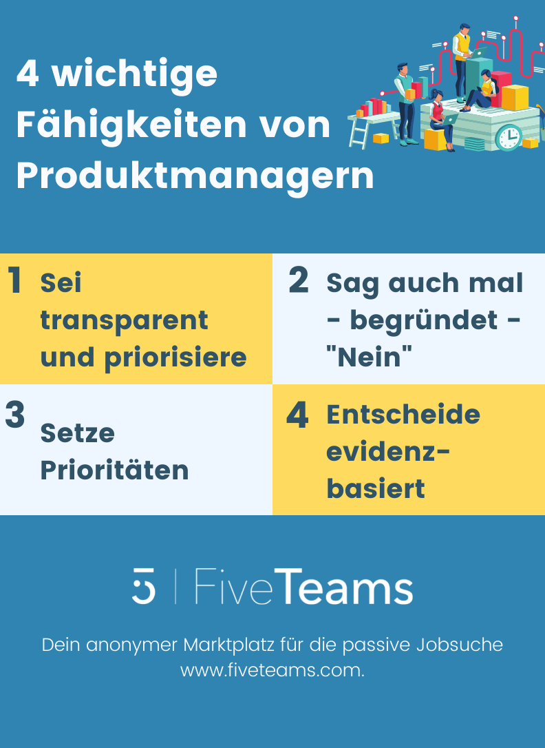 Wichtige Fähigkeiten von Produktmanagern