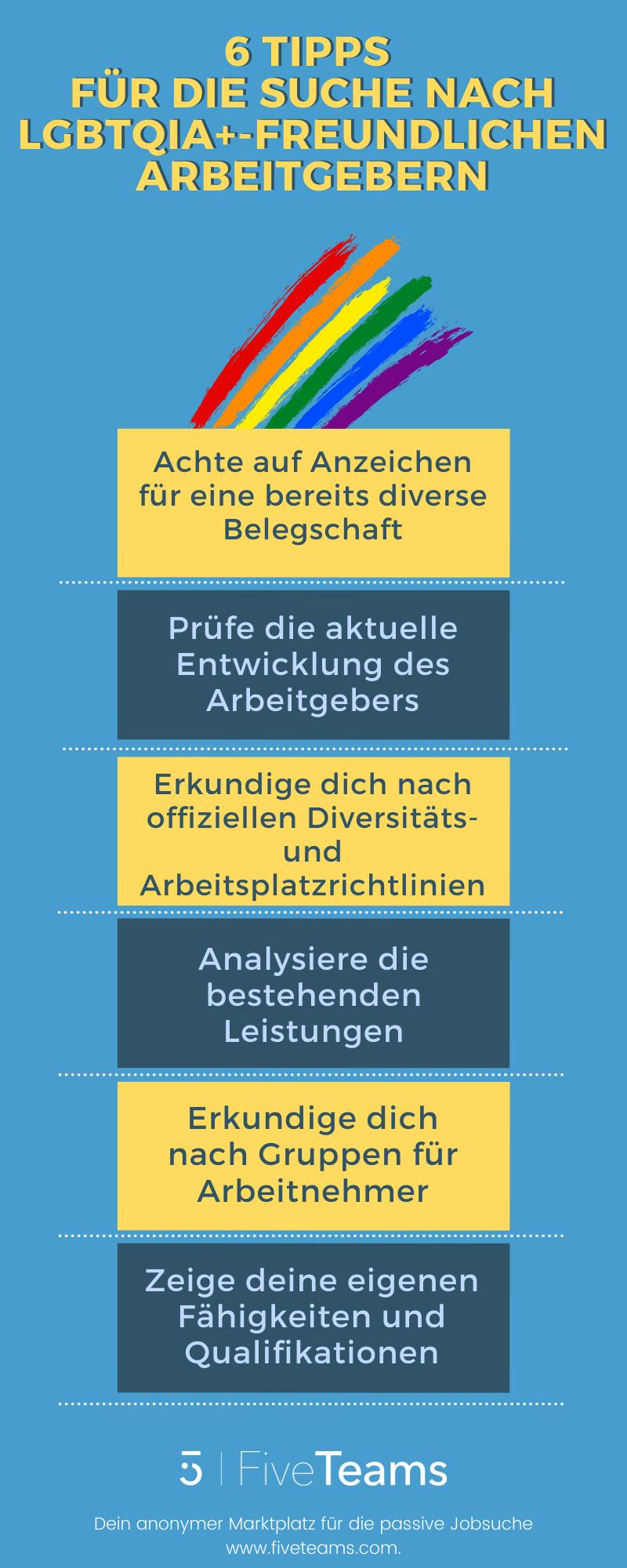 6 Tipps  für die Suche nach LGBTQIA+-freundlichen Arbeitgebern