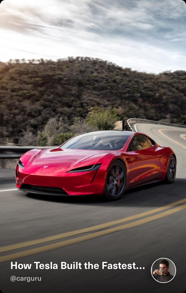 Social audio: How Tesla Built the Fastest car on the market