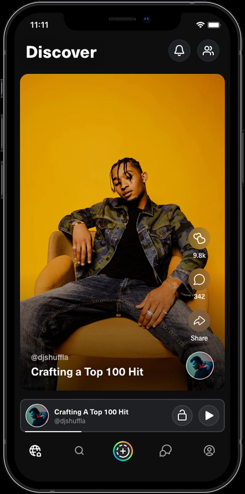 listen to social audio on lava mobile app