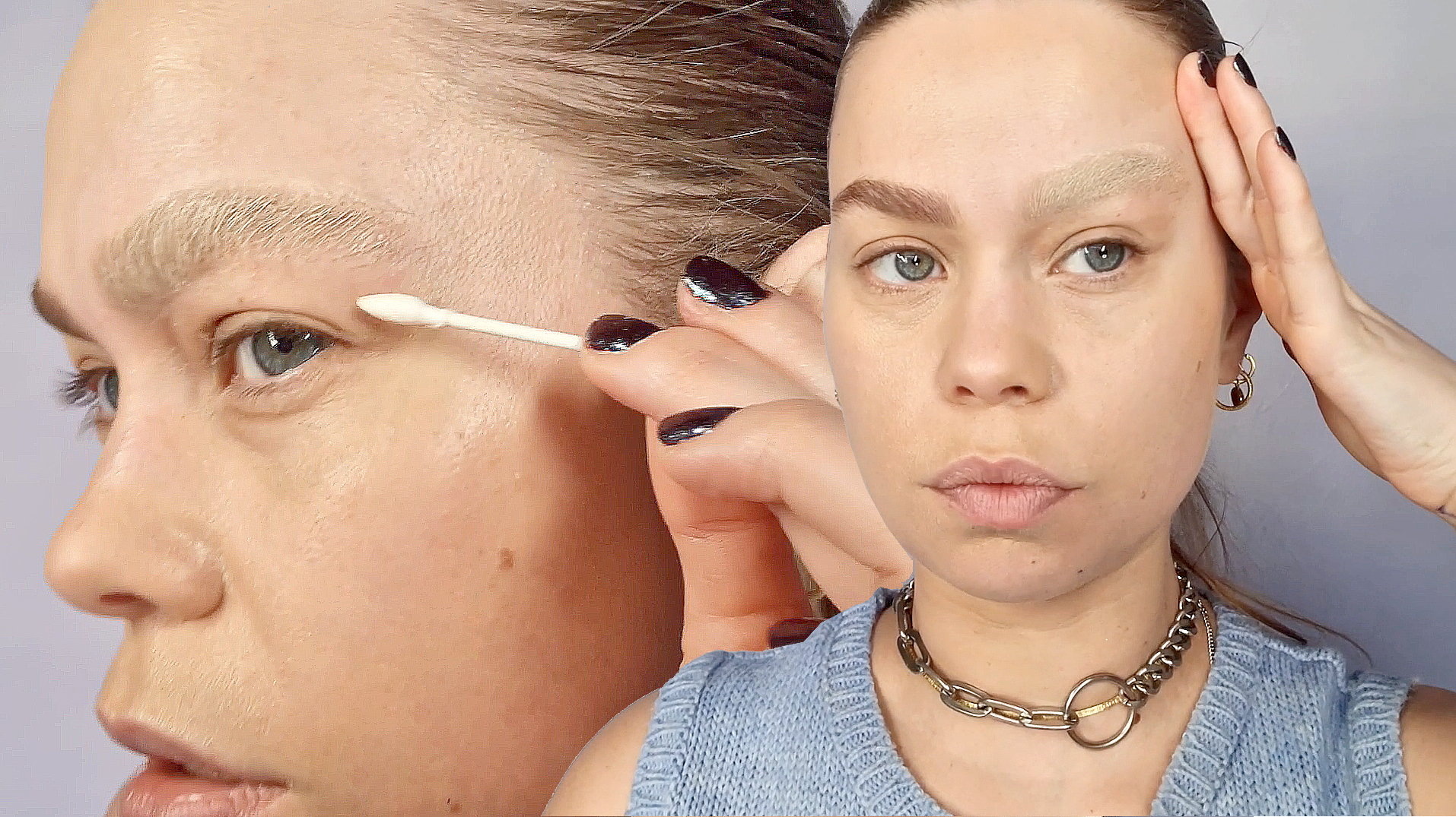 How-To Faux Bleached Brow