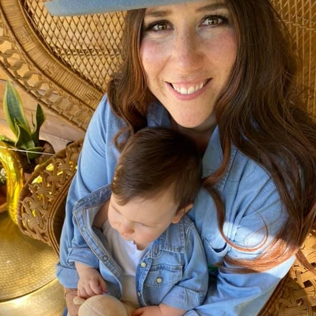 A picture of Courtney Bianchi and her daughter Luna.
