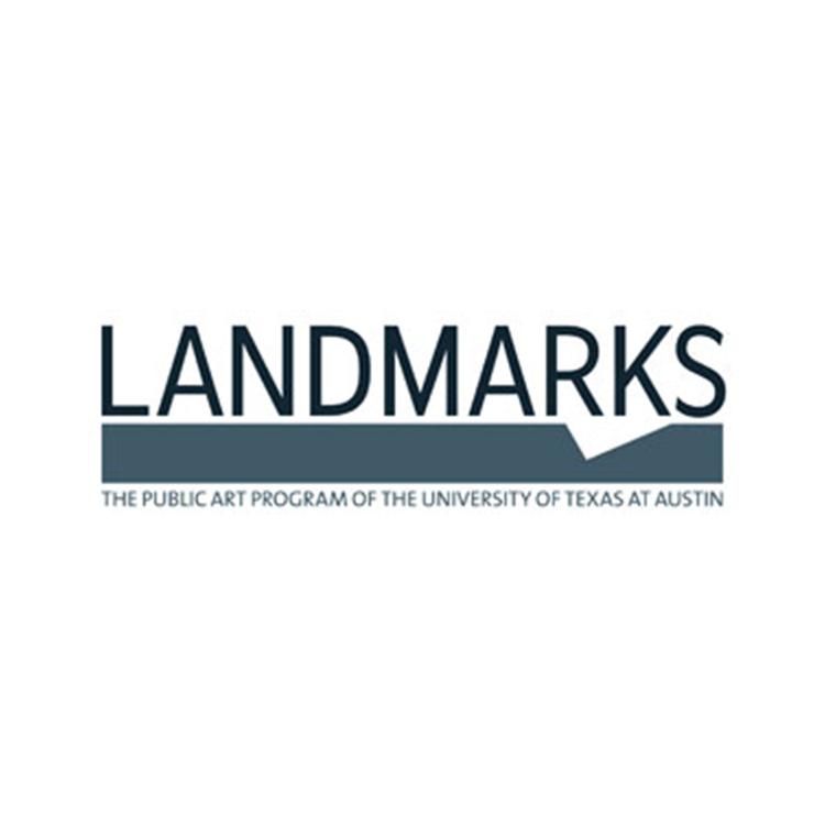 Logo of LANDMARKS: The Public Art Program of the University of Texas at Austin.